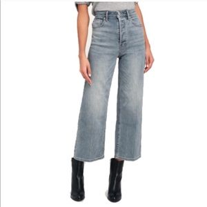 Free people high rise wide leg crop jeans